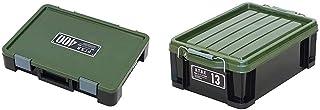 アステージ 収納ボックス Xシリーズ パーツストッカー PS-400X 付属仕切板15枚付き ブラックグリーン 幅40.5×奥行29×高さ7.8cm & アステージ 収納ボックス Xシリーズ NT BOX 13X ブラックグリーン 幅29.5×...
