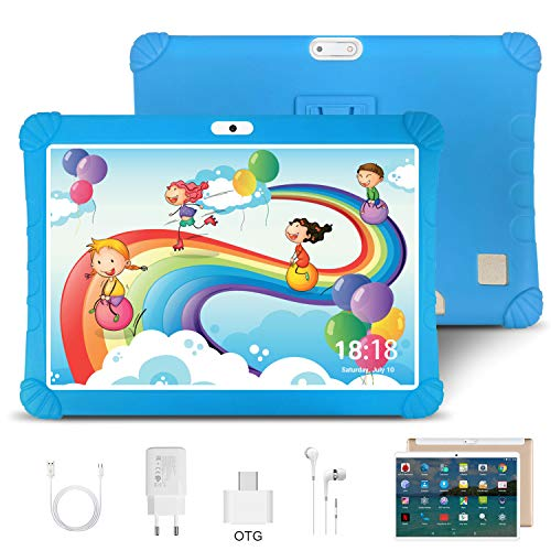 10.1 Inch Tablet Android 9.0, Quad Cord, 64GB ROM 4GB RAM 128GB Scalable, Google Play, WIFI, GPS, Cameras, Dual SIM, 1280*800 HD IPS Screen - DUODUOGO 10 Inch Tablet Pad GMS Google Certification