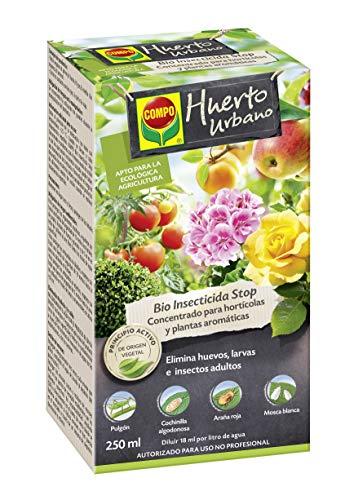 Compo Bio Stop Insecticida Concentrado para hortícolas, Apto para Agricultura ecológica, Control de plagas en hortalizas y Plantas aromáticas, 250 ml