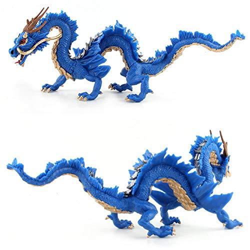 Golden.Y gaeruite Chinese Dragon Toy Simulation Chinese Dragon Realistic Toy Educativo para niños Regalo de cumpleaños Cozy