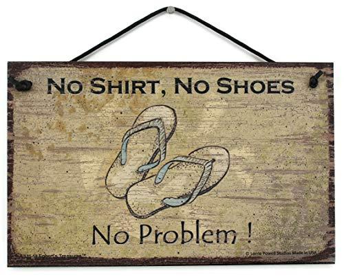5x 8Schild Vintage Style mit Sandalen zu Sagen,