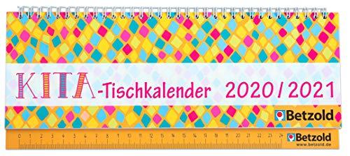Betzold 758602 - Tischkalender KITA 2020/2021, Querformat - Wochenplaner Terminplaner für Erzieher/innen