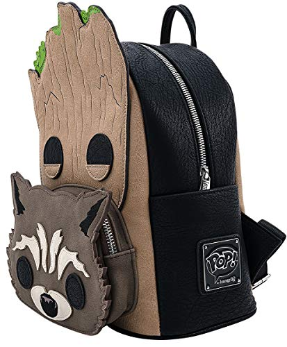 Guardians Of The Galaxy Loungefly - Groot und Rocket Unisex Mini-Rucksack Standard