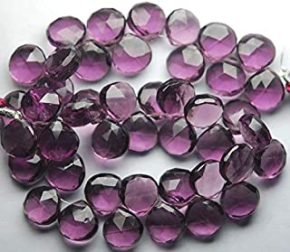 Jewel Beads Natural Beautiful jewellery 3.5 Inches Strand.Super Finist,Kunzite Quartz Faceted Heart Shape Briolette, Size 10-11 mmCode:- JBB-38593