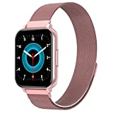Smart Watch,G.Home Fitness Tracker with Blood Pressure Heart Rate Sleep Monitor,Waterproof Step Counter for Women Men,Smartwatch Compatible with iOS Android(Pink+2 Bands)