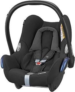 Maxi-Cosi CabrioFix, Silla de auto, reclinable y seguro para bebé, 0-12 meses, 0-13 kg, Nomad Black (negro)