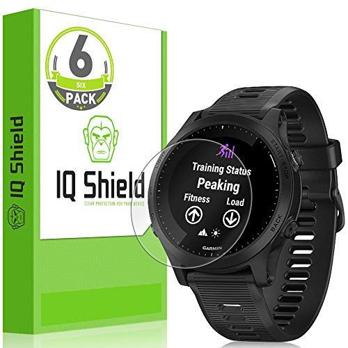 IQ Shield Screen Protector Compatible with Garmin Forerunner 945 (6-Pack) Anti-Bubble Clear Film
