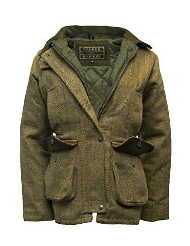 Walker and Hawkes Damen Country-Jacke aus Tweed - für die Jagd geeignet - Helles Salbeigrün - Größen 34 bis 50