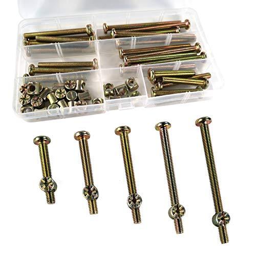 50 piezasM3.5 Tornillos Cuna IKEA,Tornillos de Tuercas Tornillos para Cuna de IKEA Tornillos para Muebles Allen Tornillos y Tuercas para Muebles Pernos para Muebles