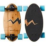Eggboards Mini Longboard Bamboo Wood - Sustainable Compact Skateboard...