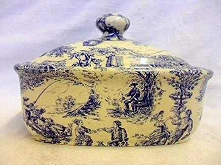 Butterdose Handarbeit in Blau-toile-design preisvergleich bei geschirr-verleih.eu