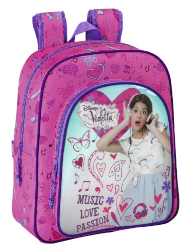 Violetta - Mochila Junior Adaptable, 32 x 38 x 12 cm (SAFTA 611347640)