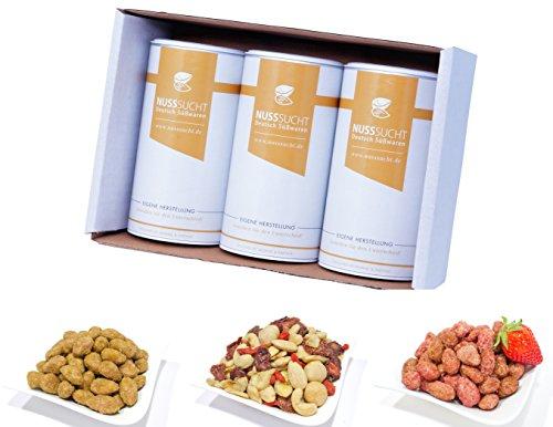 Sommer Geschenkset Bundle | Premium Nussmischung als Gesunder Snack | Gebrannte Limetten Mandeln |...