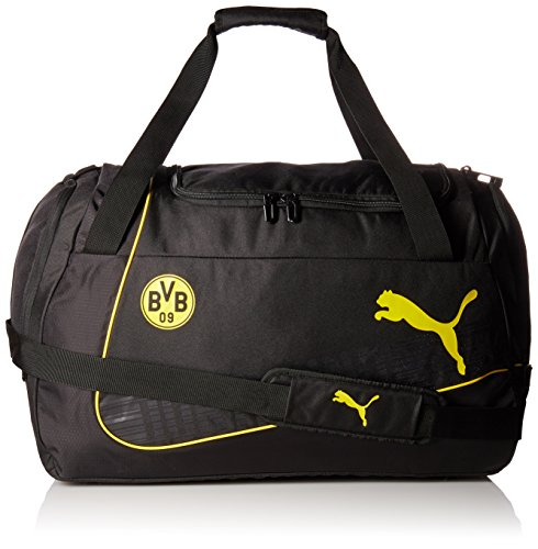 PUMA Sporttasche BVB evoPOWER Medium Bag, cyber yellow/Black, 27.4 x 12.4 x 33 cm, 54 liter