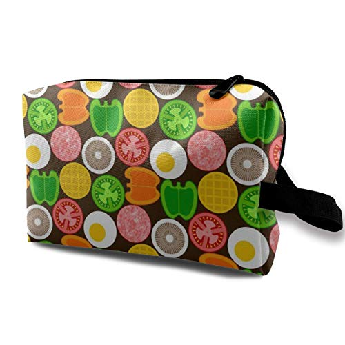 07392345 On The Griddle_29996 Multifunction Cosmetic Bag Cosmetics Make Up Tools Women Girls