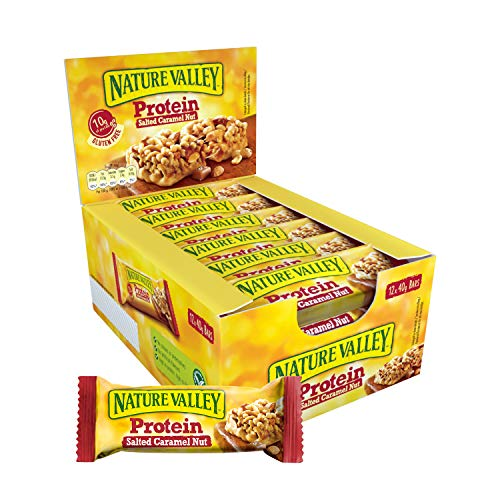 Nature Valley Protein Salted Caramel Nut, 12er Pack Proteinriegel (12 x 40 g)