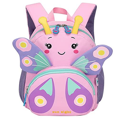 Zaino per bambini Zaino per scuola impermeabile Zaino per animali simpatico cartone animato per bambina 2-6 anni