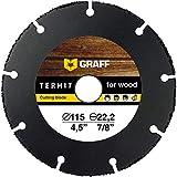 Multi Wheel GRAFF® Termit Disco de Corte para Amoladora 115mm / 125mm, Corte Fino de Madera, Laminados, Plástico (115 mm)