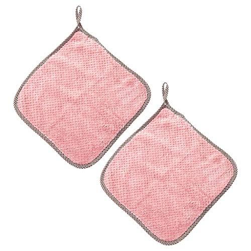 Baoblaze 2 Trapos de Limpieza de Microfibra para la casa-Toallas de Microfibra Suaves para el Secado del Coche, paños de Polvo para el Detalle, Trapos de - Rosa