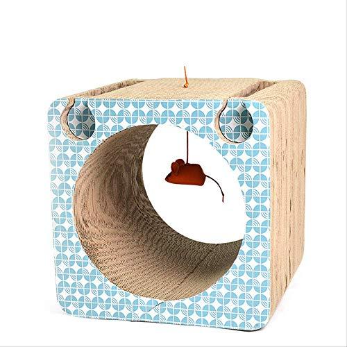 YYGUI huisdier slijpen kat speelgoed tunnel kat nest leuk bel bal kat springen gegolfde grote kat krasplank