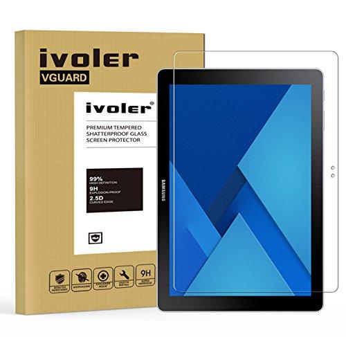 ivoler Panzerglas Schutzfolie Kompatibel für Samsung Galaxy Book 10.6 Zoll, 9H Festigkeit, Anti- Kratzer, Bläschenfrei, 2.5D R&e Kante