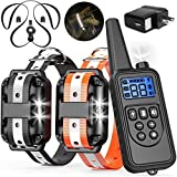 NBSail Dog Training Collar, Shock Collar for 2 Dogs 2600ft Dog Shock Collar with Remote Beep, Vibration Training for Large Medium Dogs