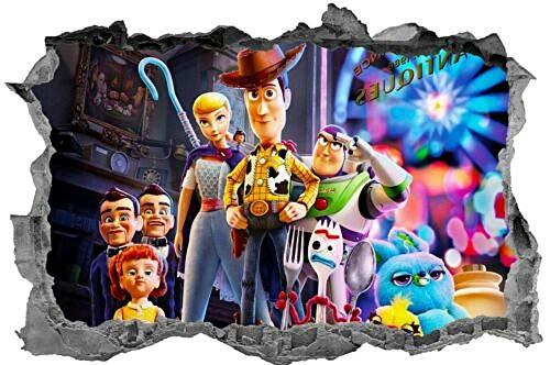 BAOWANG Wandtattoo Toy Story Sticker 3D Schlafzimmer Aufkleber Kids Wall Art Wandbild