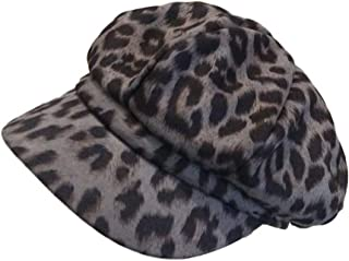 Idopy Women`s Leopard Newsboy Caps Gatsby Cabbie Berets hats