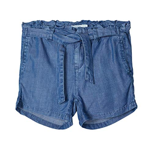 NAME IT Mädchen NKFRANDI DNMTAKAREN 2301 NOOS Shorts, Medium Blue Denim, 128