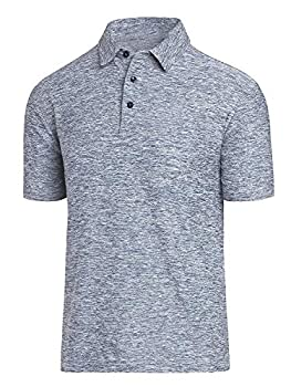 COSSNISS Men s Dry Fit Golf Polo Shirt Silver XX-Large
