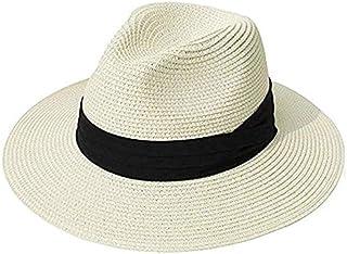 ZXY-NAN FURTALK Panama Hat Summer Sun Hats for Women Man Beach Straw Hat for Men UV Protection Cap chapeau femme 2020 (Col...