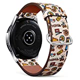 Compatible with Samsung Galaxy Watch (46mm) - Quick-Release Leather Band Bracelet Strap Wristband Replacement - Cinema Projector