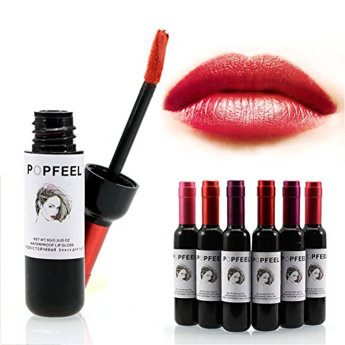 Frcolor 6 colores vino tinto Lip Tint larga duración impermeable mate brillo labial líquido conjunto