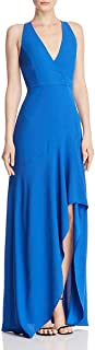BCBG Max Azria Womens Sleeveless Plunging Evening Dress