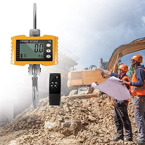 PaNt Báscula de grúa,báscula colgante industrial pesada de 1000 kg (2200 lb),báscula de grúa electrónica inteligente de alta precisión con pantalla LCD y control remoto