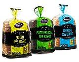 Rye Bread | 3 Flavor Variety Bundle | (1) Seeded Rye Bread, (1) Real Jewish Rye Bread ( Seedless) & (1) Pumpernickel Bread | 2-3 Day Shipping |16 oz per Loaf - Stern's Bakery [ 3 Loaves of Bread Included ]