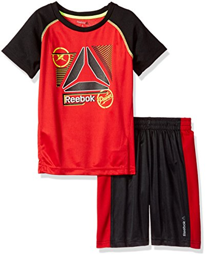 Reebok Jungen 2-teiliges Soundwellen-Performance-Set - Rot - 6-9 Monate