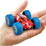 Power Your Fun Cyclone Mini Remote Control Car for Kids - Double Sided Fast Off Road Mini Stunt Car, RC Toy Car for Boys and Girls