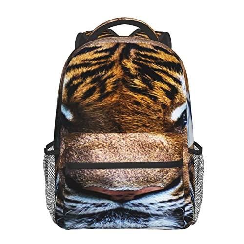 BYETWIK Mochilas Escolares Niños Niñas, Mochilas Hombre Mujer, Casual Deporte Playa Viaje Compras Bolsa Escolar, Mochilas Escolares Mamífero Tigre Zoológico Big Cat
