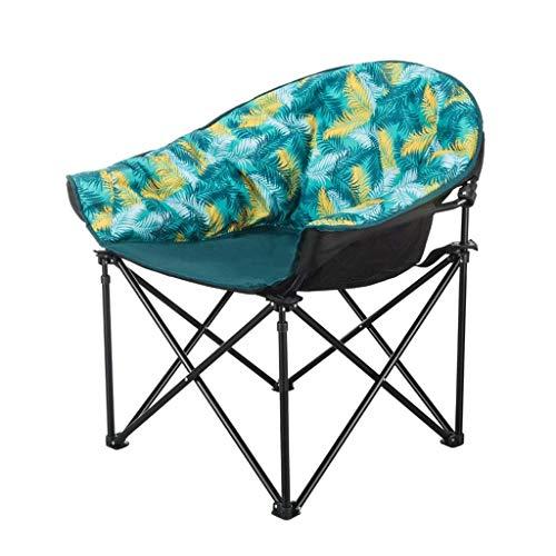 ZDYHQ Mond Stühle Große Falten Tragbare Outdoor Camping Stuhl Deluxe Strand Angeln Sitz