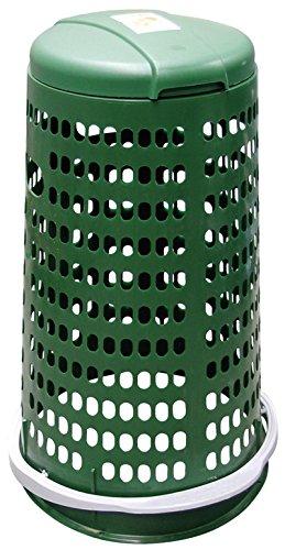Trespolo Müllsackständer Müllsackhalter mit Deckel und Pedal. Abmessungen cm 38x 80.
