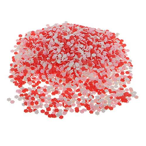 chiwanji 100 Pièces Assorties Tranches d'argile Polymère Nail Art Slice Décorations Artisanat d'argile - comme Image montrée, 5x5mm Plum Blossom