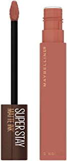 Maybelline SuperStay Matte Ink Liquid Lipstick, Long-lasting Matte Finish Liquid Lip Makeup, Coffee Edition, Highly Pigmen...