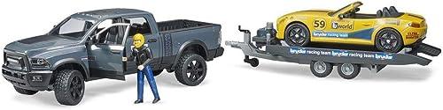 bruder 2504 RAM 2500 Power Wagon und Roadster Racing Team, Mehrfarbig