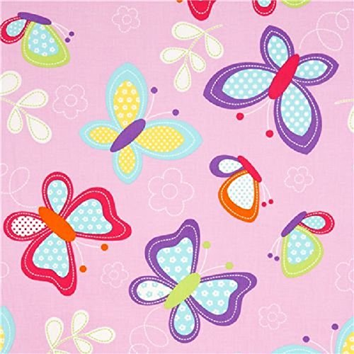 Fat Quarter Butterfly Kisses Baumwoll-Stoff Michael Miller