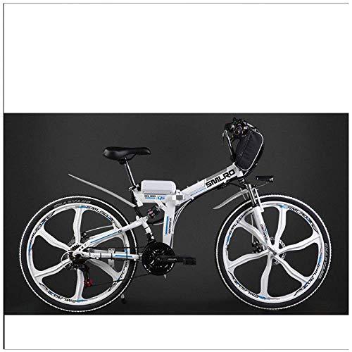 Xiaotian Bicicleta eléctrica Plegable Ciudad Bicicleta de montaña Adulto Ciclomotor, Batería de...