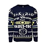 Official Fallout 4 Vault Tec Christmas Jumper/Ugly Sweater UK XS/US 2XS Blue