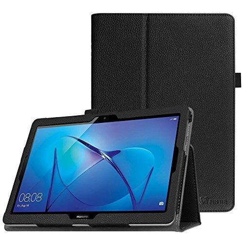 Fintie Hülle Hülle für Huawei Mediapad T3 10 - Ultra Schlank Kunstleder Folio Schutzhülle Etui Tasche Hülle Cover mit Standfunktion für Huawei MediaPad T3 24,3 cm (9,6 Zoll) Tablet-PC, Schwarz