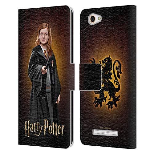 Head Hülle Designs Offizielle Harry Potter Ginny Weasley Chamber of Secrets IV Leder Brieftaschen Handyhülle Hülle Huelle kompatibel mit Wileyfox Spark X