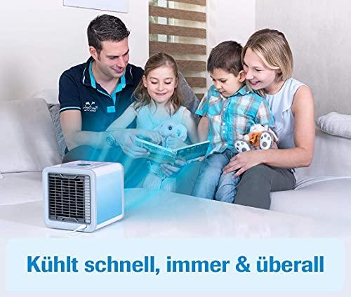 MediaShop Livington Arctic Air – Luftkühler mit Verdunstungskühlung – Mobiles Klimagerät mit 3 Stufen und 7 Stimmungslichtern – Mini Klimagerät mit Tankvolumen für 8h Kühlung - 5